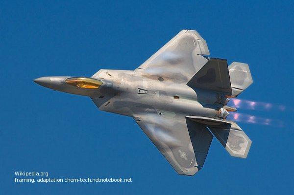 Истребитель F-22 подавления ВВС противника.